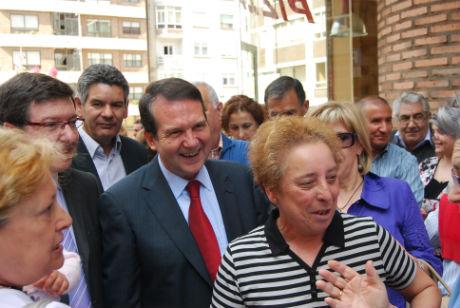El alcalde, hoy, en la inauguración de la humanización de Sanjurjo Badía