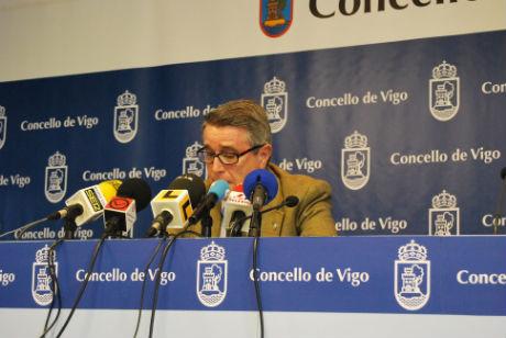 El concejal popular Antonio Coello, esta mañana