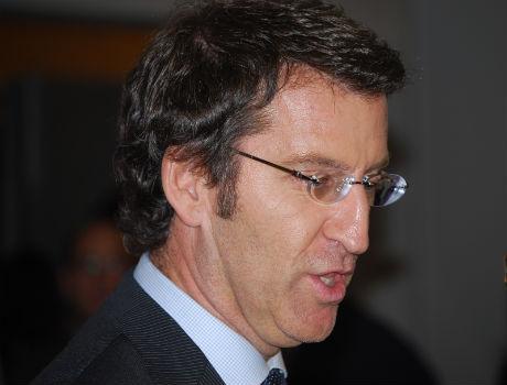 El presidente Feijóo en una reciente visita a Vigo