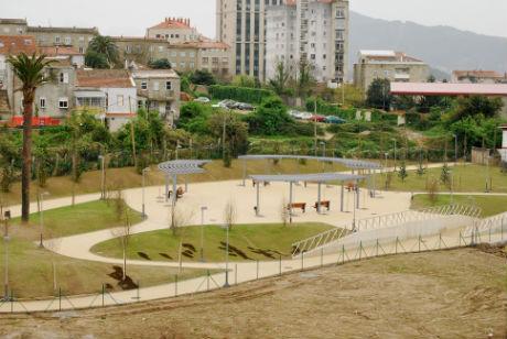 El nuevo parque está entre Pizarro y el Barrio de Ribadavia
