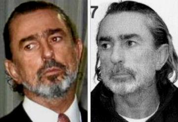 A la izquierda, Francisco Correa el día de la boda de la hija de Aznar, a la derecha, fotografía de su ficha policial