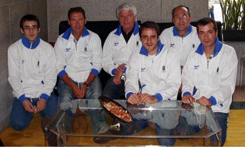 O equipo de xadrez absoluto da Universidade de Vigo.