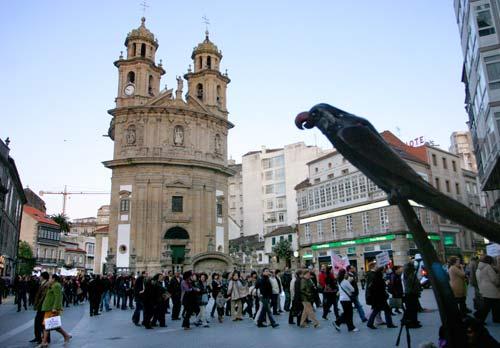 Los manifestantes recorrieron las calles de Pontevedra.