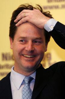 El líder del Partido Liberal, Nick Clegg
