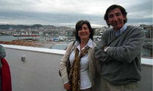 Gustavo y Estrella, junto con unos amigos, llegaron desde Cantabria a Vigo para embarcarse en el 'Grand Voyager'