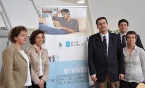 A presentación do e-voto na Universidade de Vigo.