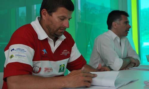 Esteban Alonso e Alfredo Bea, vicepresidente e presidente da Federación Galega de Piragüismo.