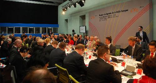 Inicio de la reunión de los responsables de Pesca de los 27 países de la Unión Europea, eesta tarde en el Museo do Mar