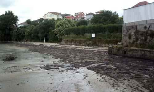 A praia de Cesantes.