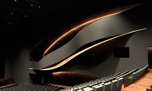 Maqueta de la iluminación del auditorio.