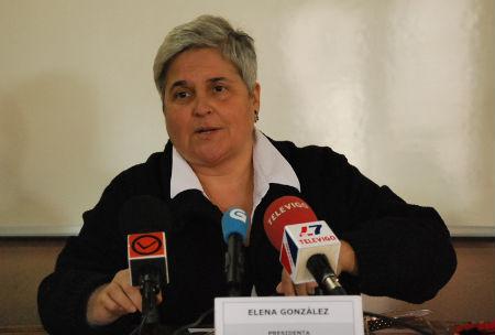 La ya ex presidenta de la Favec, Elena González.