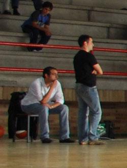 Los entrenadores del Herbalife durante un encuentro.