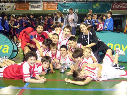 O Ferrol C.B., campión masculino.