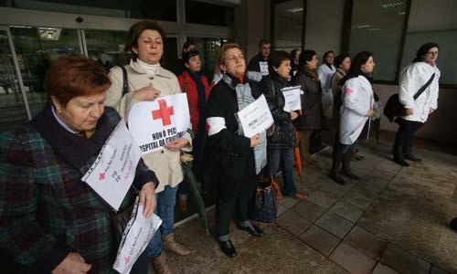 Una de las protestas de trabajadores y familiares.