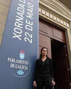 Jornada de puertas abiertas en el Parlamento gallego.