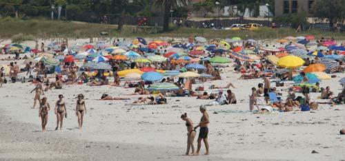 Las playas de Vigo, hasta la bandera.