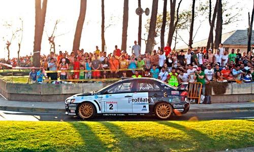 Un tramo por Samil durante la pasada edición del Rallye Rías Baixas.