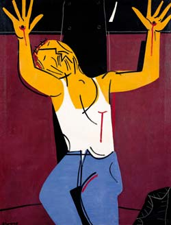 'Cristo obrero crucificado', una obra hecha por Seoane en 1975.