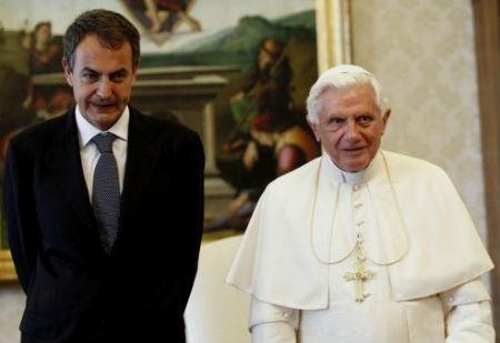 Zapatero y Benedicto XVI/C.V.