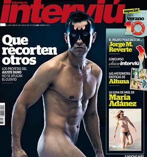Es la primera vez en 34 años que la portada de Interviú está protagonizada por un hombre.