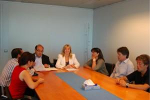 Lucía Molares y los responsables de Altamar/Tresyuno Comunicación