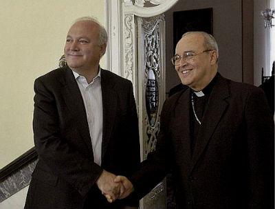 Moratinos y el cardenal Jaime Ortega