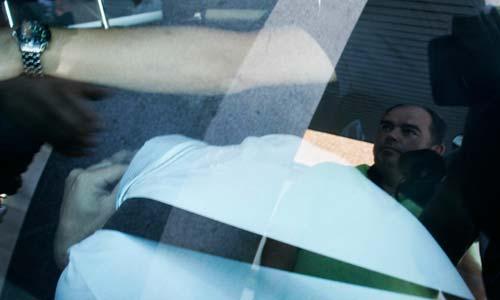 Una de las detenciones realizadas ayer en un chalet de As Sinas.