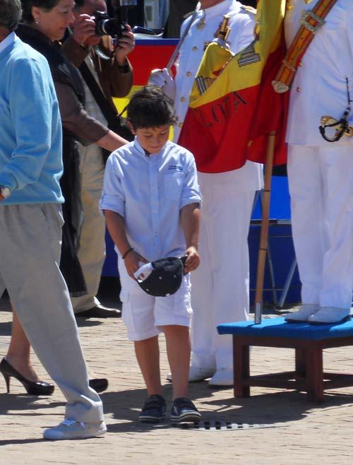 El único menor que juró bandera.