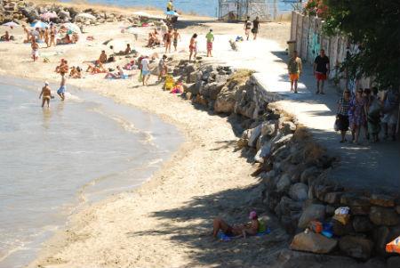 Praia da Punta, esta mañana