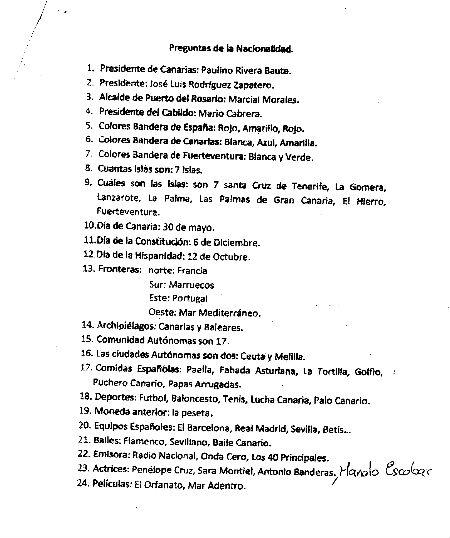 Preguntas Registro Civil de Puerto del Rosario