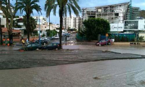 La lluvia está dejando importantes desperfectos en Córdoba. Imagen: La Sexta.
