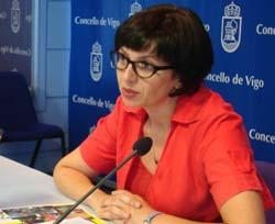 A concelleira de Normalización Lingüística, Iolanda Veloso.