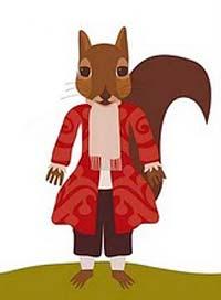 Landriña, la mascota del museo.