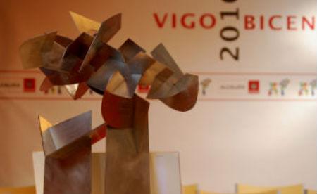 Maqueta de la escultura que se pondrá en la Rotonda del Bicentenario