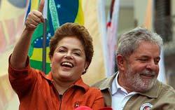 Rousseff con Lula.
