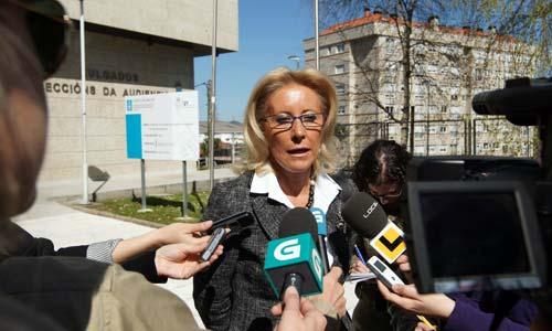 Corina Porro, a la salida de los juzgados.