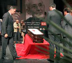 Despedida de Marcelino Camacho, el ex líder de CCOO.