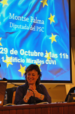 A deputada do PSC Montse Palma.