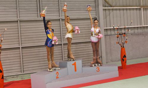Las ganadoras de la categoría individual femenina en Covelo.