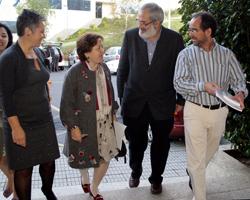 Pilar Farjas durante las jornadas sobre el amianto. Foto: Conchi Paz.
