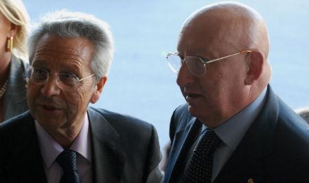 Los copresidentes de la nueva caja, Julio Fernández Gayoso y Mauro Varela