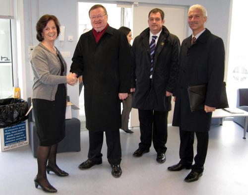 O embaixador ruso visitou co campus de Ourense.
