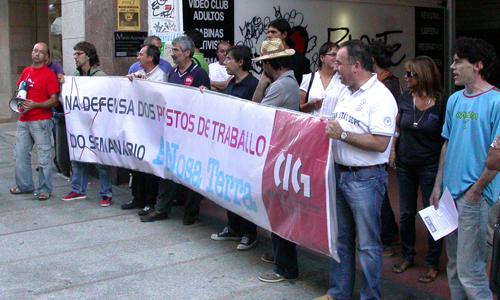 Una de las protestas llevadas a cabo por los trabajadores.