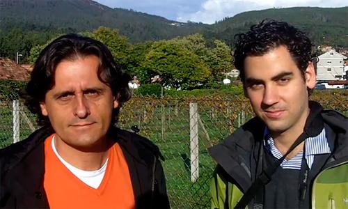 Dous dos blogueiros invitados pola Deputación de Pontevedra.