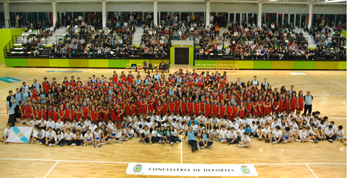 A foto de grupo do Club Baloncesto Seis do Nadal-Coia.