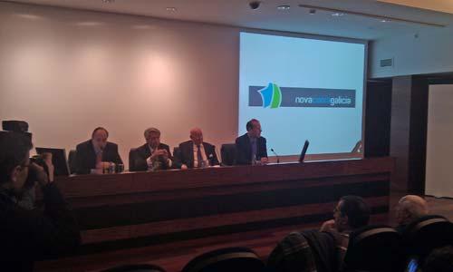 La presentación de la nueva caja en Vigo.