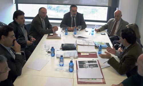 A reunión entre os alcaldes de Salvaterra e As Neves e a Xunta.