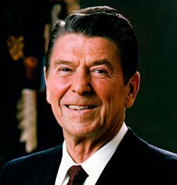 El ex presidente de EEUU, Ronald Reagan.