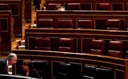 Los diputados brillan por su ausencia en un Pleno del Congreso de hace dos años