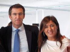 El presidente Feijóo y su conselleira de Traballo, Beatriz Mato